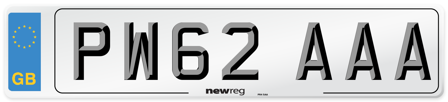 PW62 AAA Number Plate from New Reg